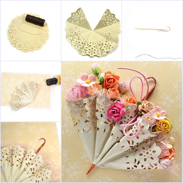 DIY Cute Mini Umbrella With Paper Doily DIY Tutorials