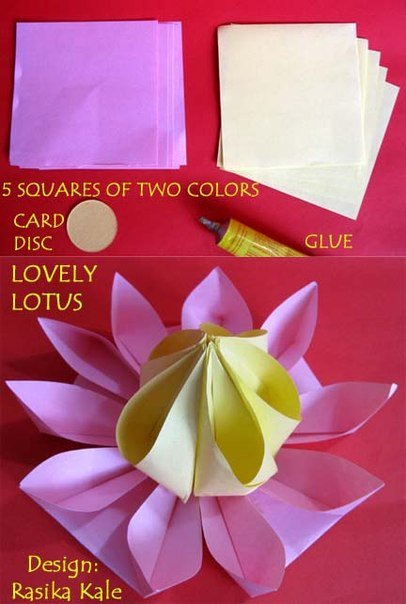How To Make Lovely Paper Origami Lotus FAB ART DIY Tutorials