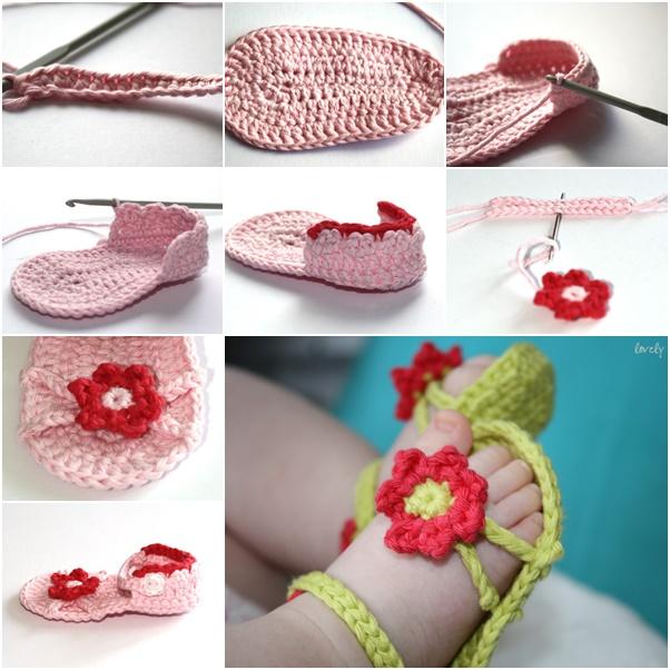 DIY Flower power baby sandals