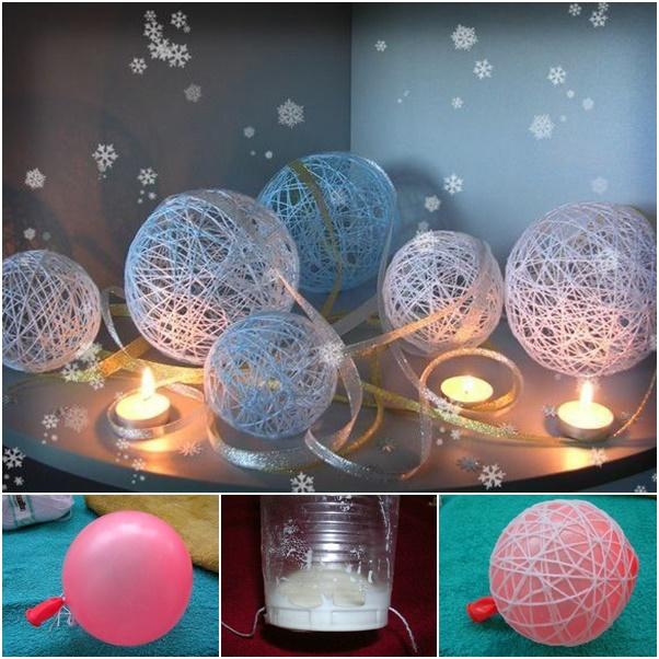 Tutorial Pretty String Ball Decoration For Christmas
