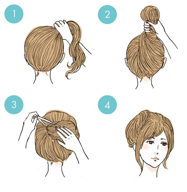 Simple tutorials to style hair fringe23