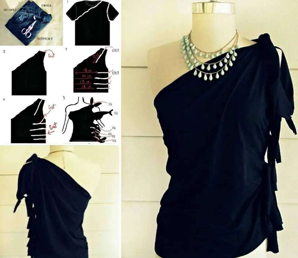 Image Result For How To Make A Tshirt Into A Dress Without Sewing