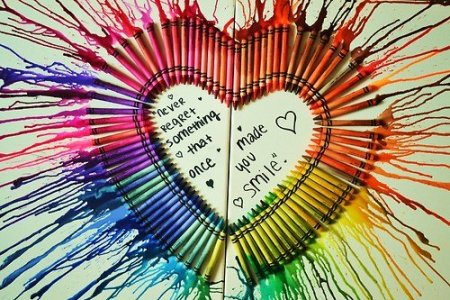 For Crayon Canvas Art I Made My Boyfriend Would Do This So Many Different People Cool Melted Ideas Hative Rainbow