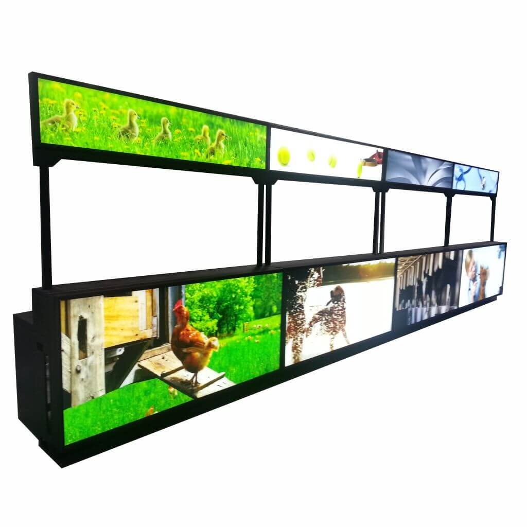 LED backlit Reception Counters