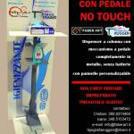 Colonna per dispenser igienizzante con pedale no touch