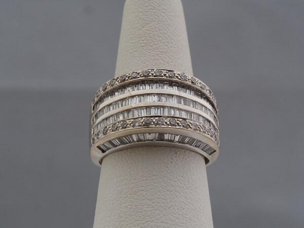 14k White Gold Baguette Diamond Ring - $3,000