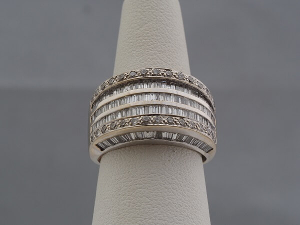 14k White Gold Baguette Diamond Ring - $3,000