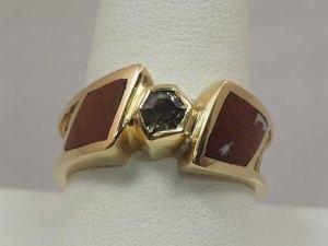 Montana Sapphire, Binghamite, 14k Yellow Gold Ring - $1,400