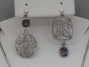 2.79ctw Spinel Platinum Filigree Earrings - $1,900