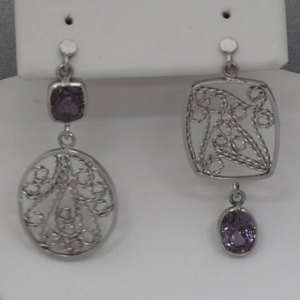 2.79ctw Spinel Platinum Filigree Earrings - $1,900