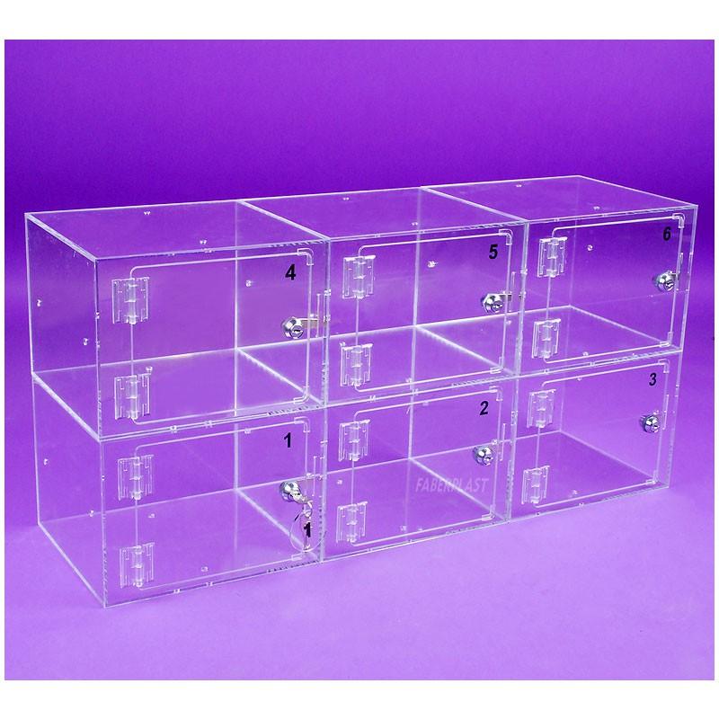casier plexiglas transparent