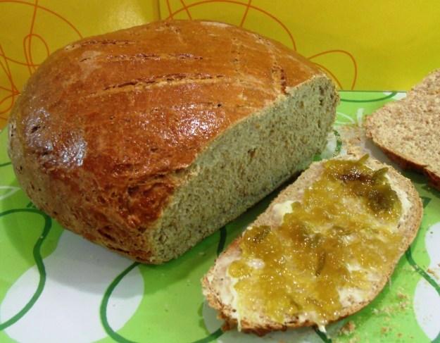 Rye Bread with Greengage Jam