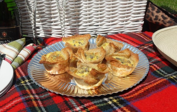 Picnic food, Croque Monsieur crossed with Quiche