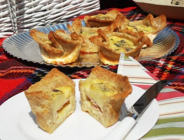Picnic food, Cross between Croque Monsieur and Quiche Lorraine