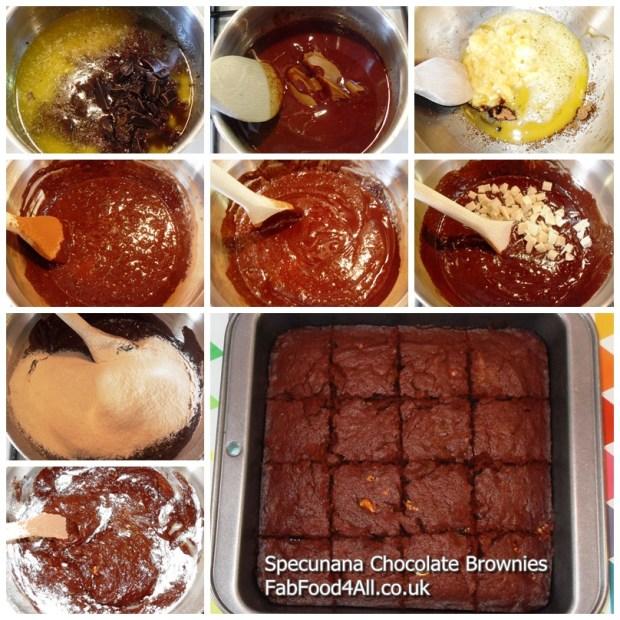 Speculoos, Banana, Dark Chocolate, white chocolate Brownies