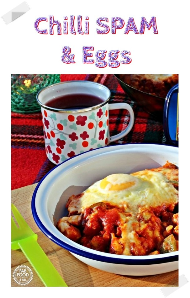 Chilli SPAM & Eggs (Pinterest image)