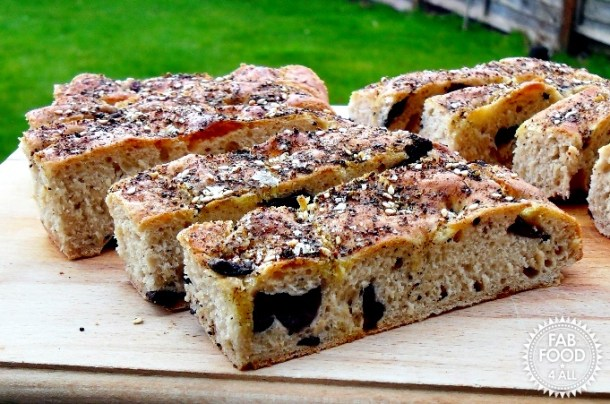 Za'atar Focaccia - Fab Food 4 All
