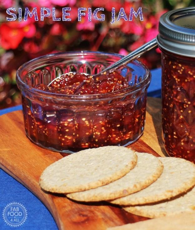Simple Fig Jam - Fab Food 4 All