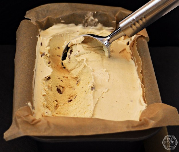 Salted Caramel Crunchie Ice Cream - Fab Food 4 All