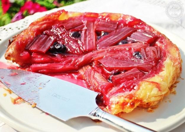 Rhubarb & Blueberry Tarte Tatin - Fab Food 4 All