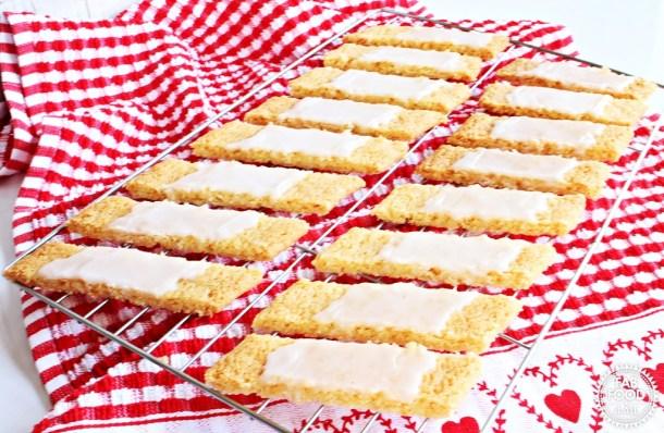 Danish Fedtebrød – Coconut Cookie Slices with Rum Glaze - Fab Food 4 All