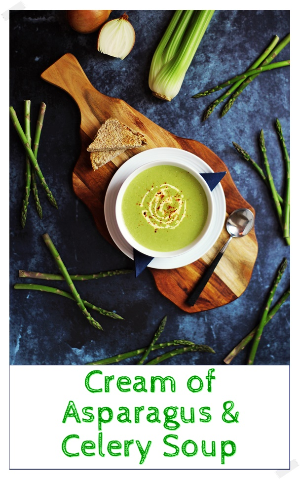 Cream of Asparagus & Celery Soup - Fab Food 4 All #asparagus #celery #cream #soup #vegetarian
