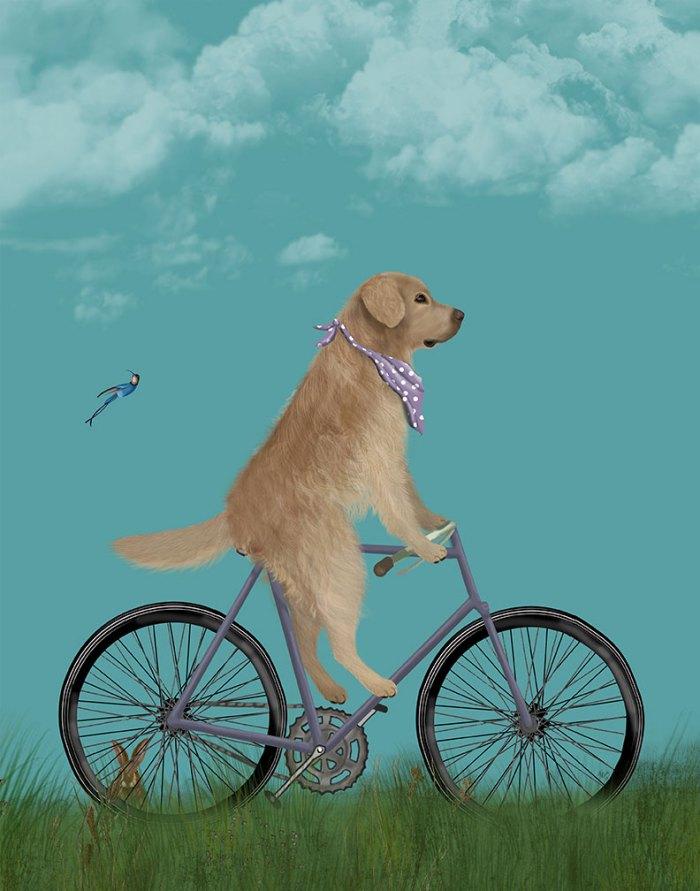 Golden Retriever Bicycle