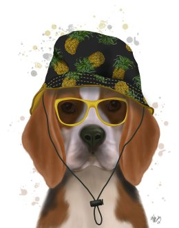 Beagle and Bucket Hat
