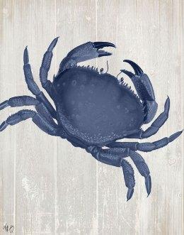 Blue Crab On Grey 1