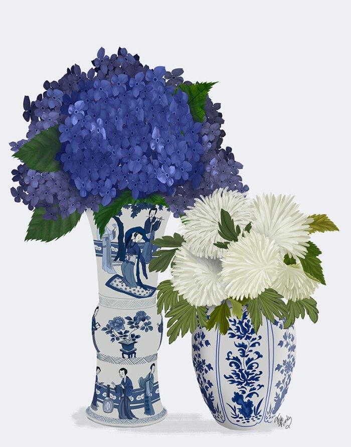 Chinoiserie Flower Duo 3