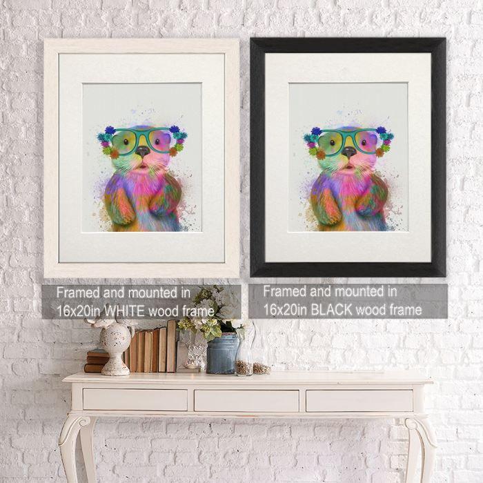 Canvas Wall Art  Framed White -