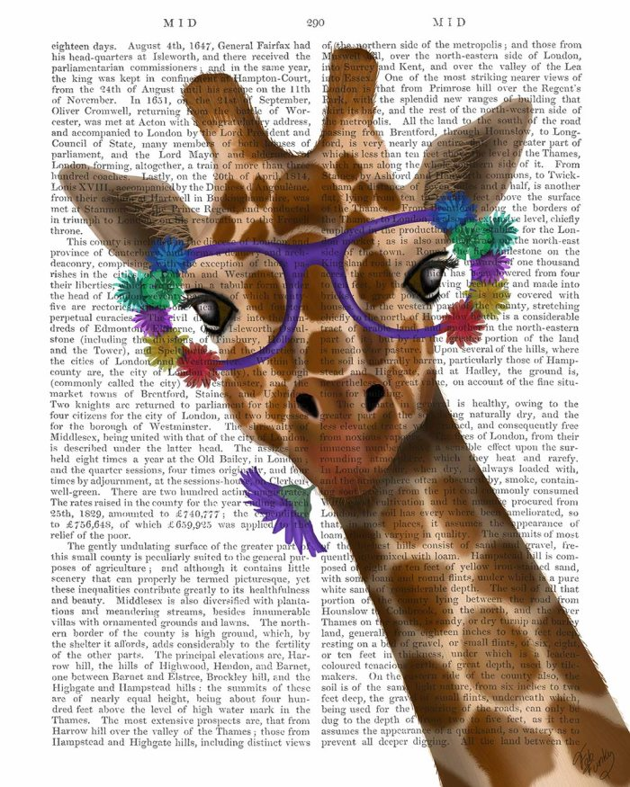 Giraffe and Flower Glasses 1