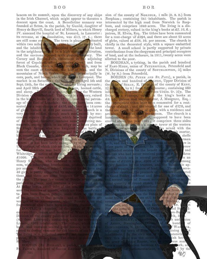 Fox Couple Edwardians
