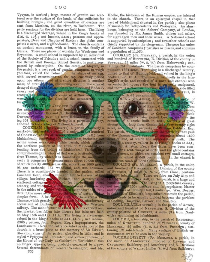 Yellow Labrador and Flower Glasses