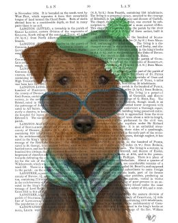 Airedale and Heart Glasses