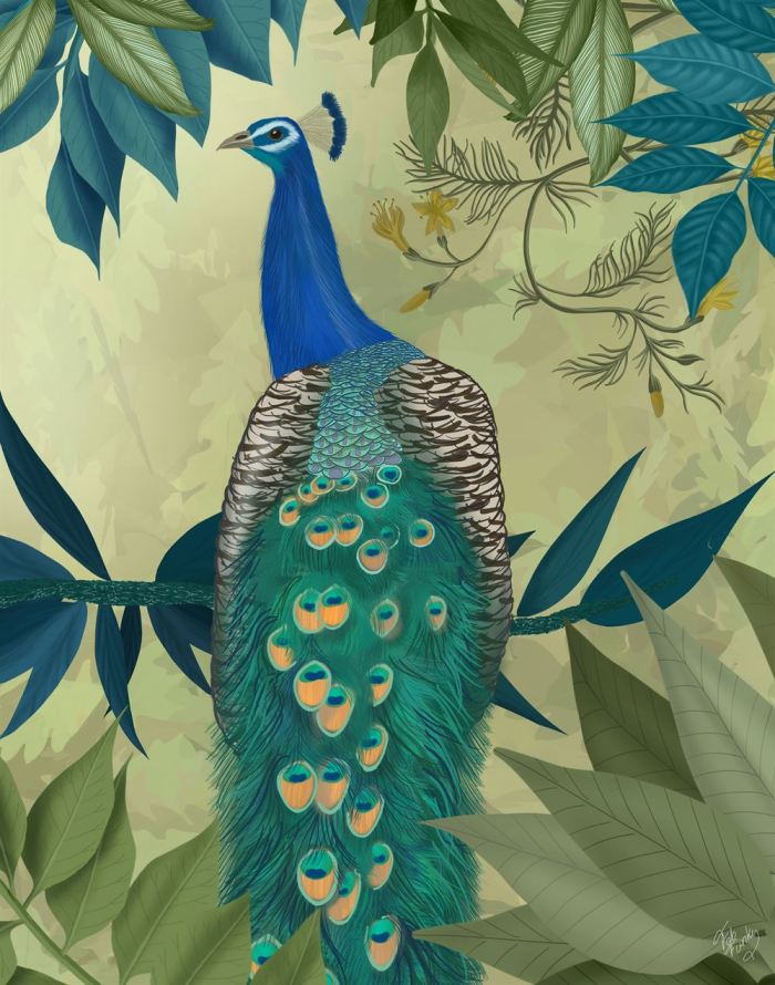 Peacock On Branch