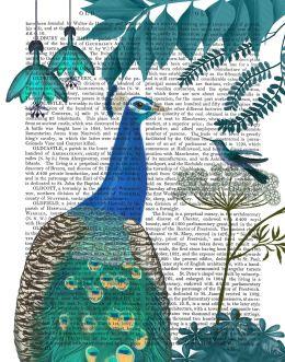 Peacock Garden 2 on Gold