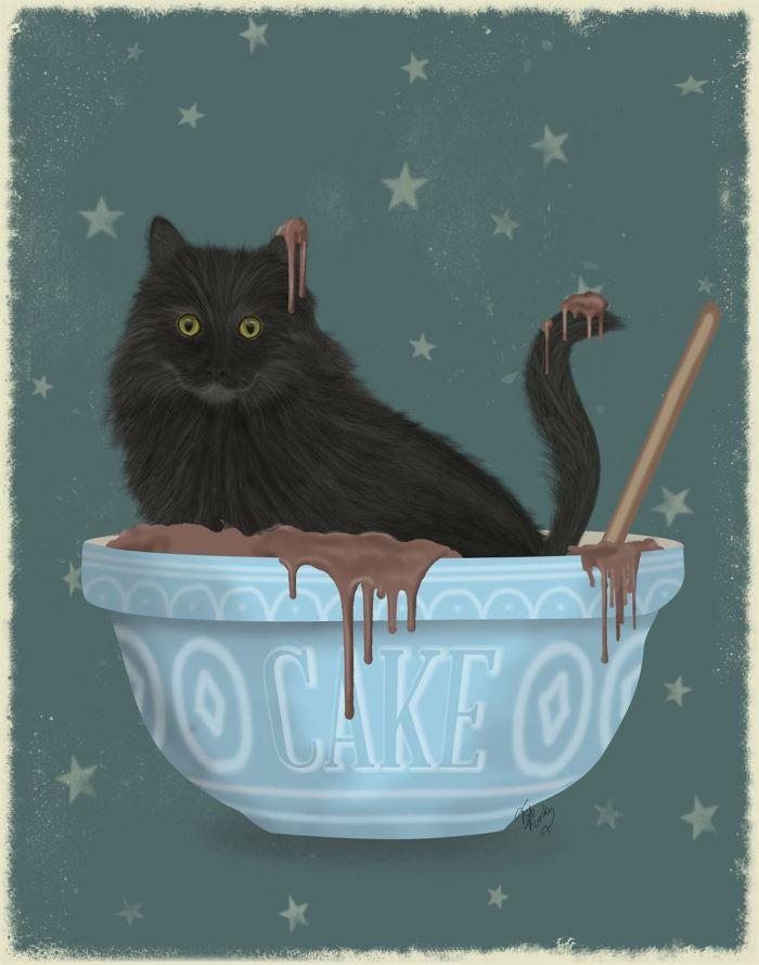Black Cat Mixing Bowl