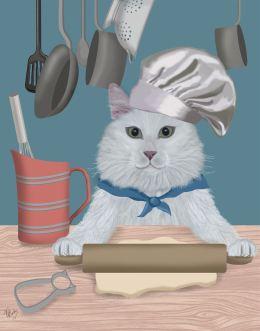 White Cat Cookie Baker