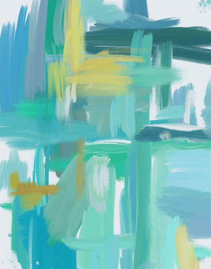 Blue Harmonies 2 Abstract Art Print