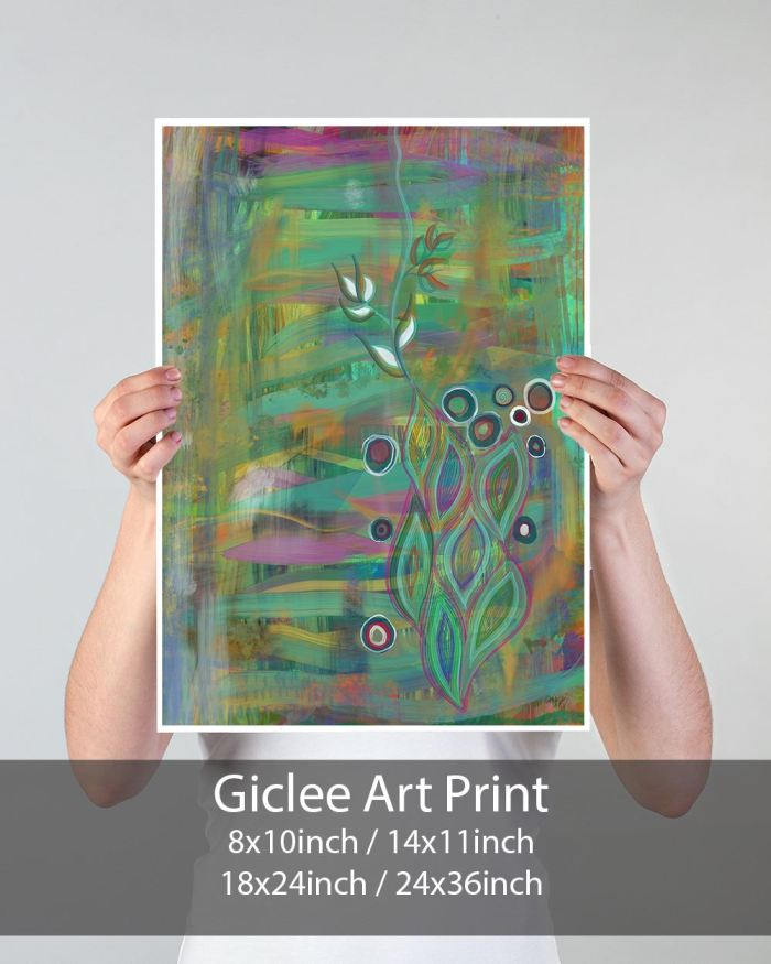 Brave Seed Abstract Art Print