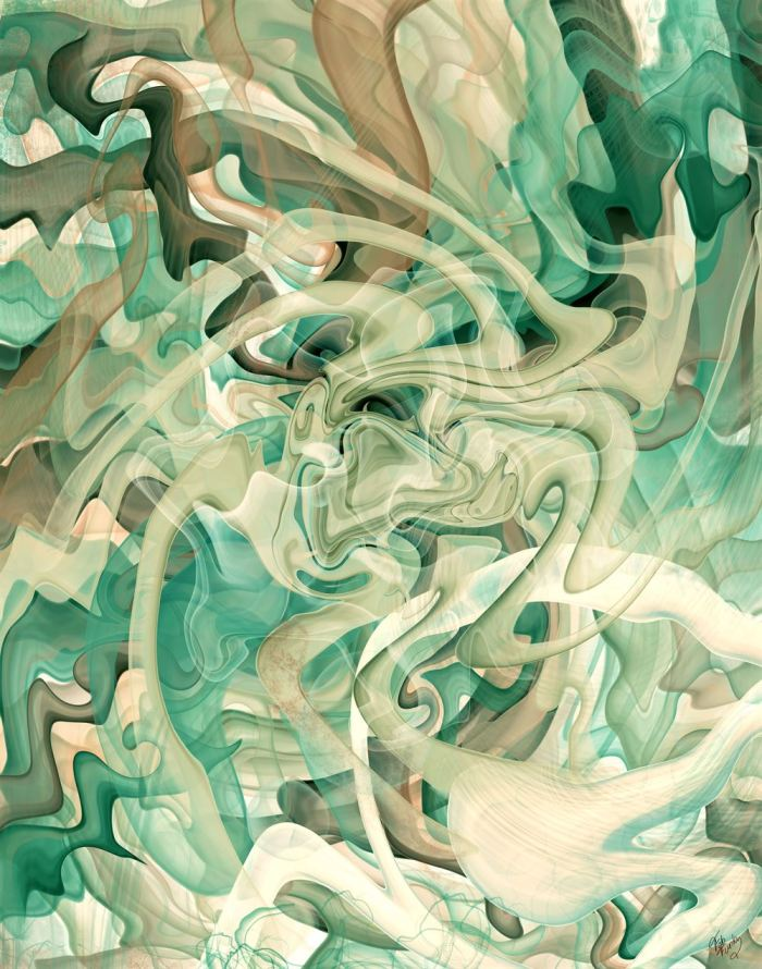 Forest Synergy 2 Abstract Art Print