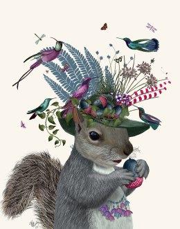 Squirrel Birdkeeper and Blue Acorns