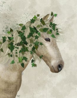 Horse Porcelain with Ivy