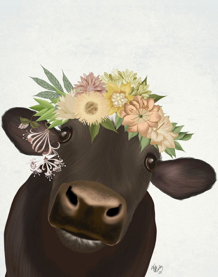 Cow with Flower Crown 1