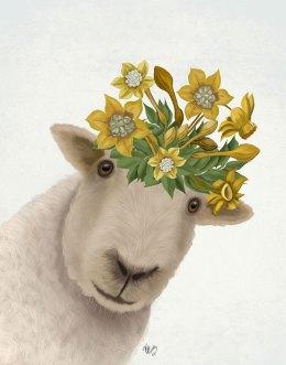 Sheep with Daffodil Crown