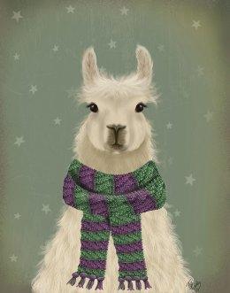 Llama with Purple Scarf