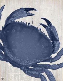 Blue Crab On Grey 3