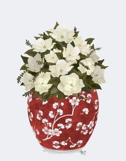 Chinoiserie Magnolias White