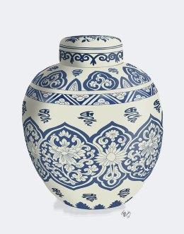 Chinoiserie Vase Symbol Blue
